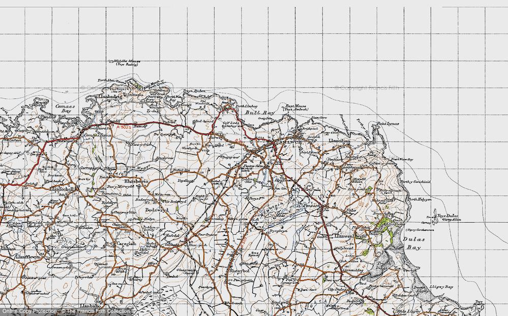 Old Map of Pentrefelin, 1947 in 1947