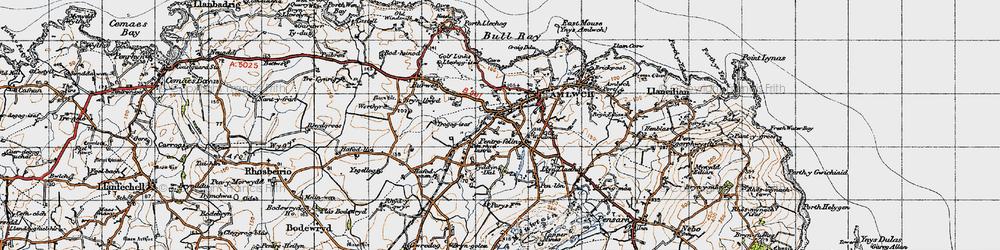 Old map of Pentrefelin in 1947