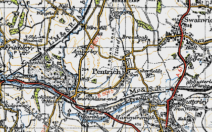 Old map of Asherfields in 1946