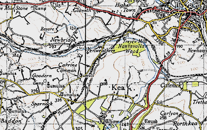 Old map of Penweathers in 1946