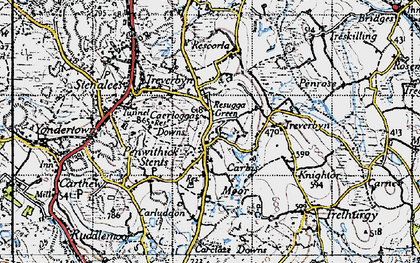 Old map of Penwithick in 1946