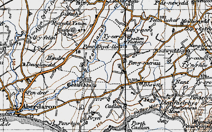 Old map of Ysgo in 1947