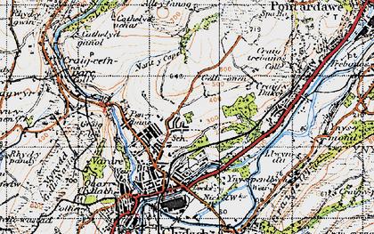 Old map of Allt-y-fanog in 1947