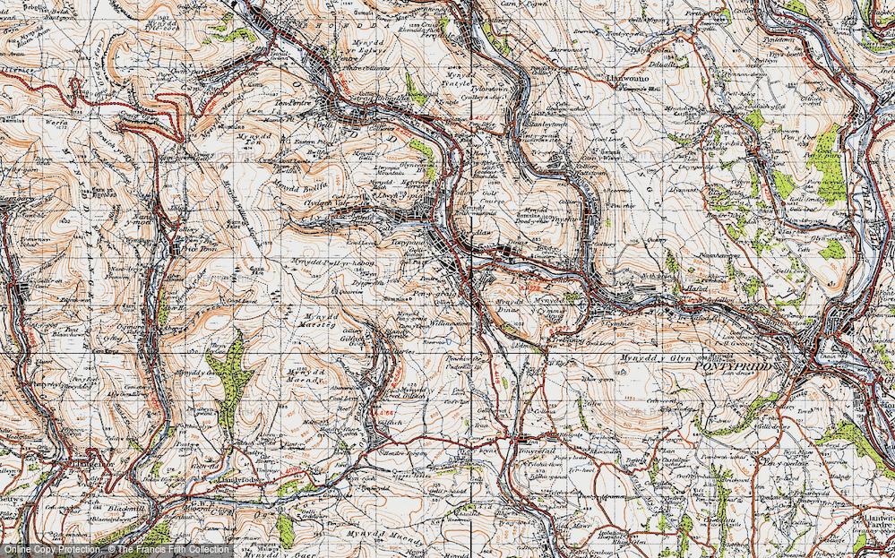 Old Map of Penygraig, 1947 in 1947