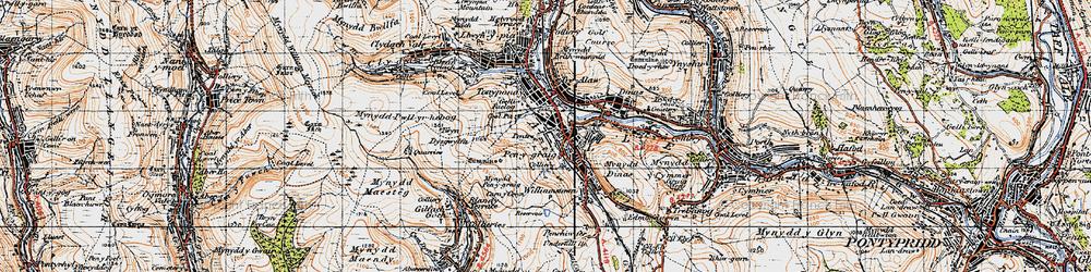 Old map of Penygraig in 1947