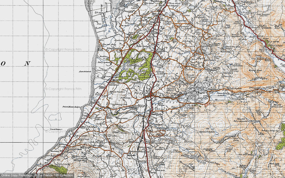 Old Map of Penygroes, 1947 in 1947