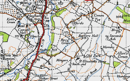 Old map of Perry Green in 1946