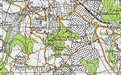 Old map of Perrywood in 1946