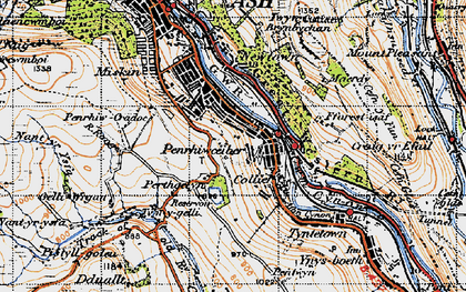 Old map of Perthcelyn in 1947