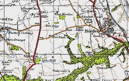 Old map of Peterlee in 1947