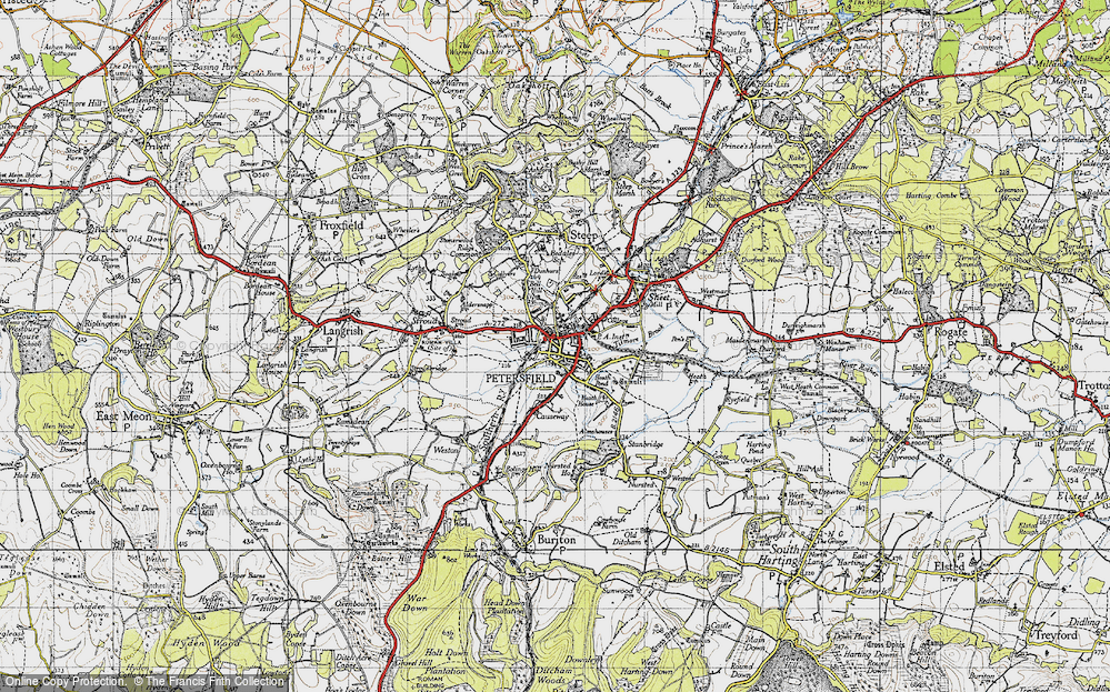 Old Map of Petersfield, 1945 in 1945