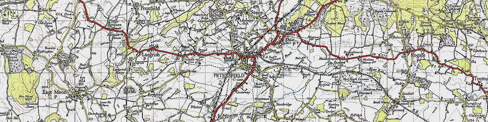 Old map of Petersfield in 1945