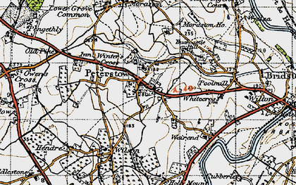 Old map of Peterstow in 1947