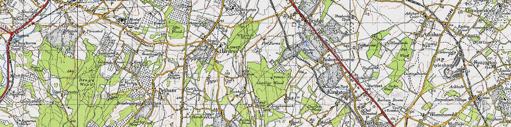 Old map of Gorsley Wood in 1947