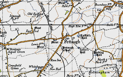 Old map of Winston Green in 1946