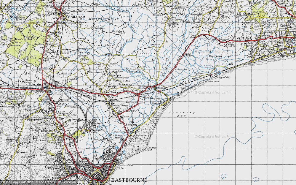 Old Map of Pevensey, 1940 in 1940