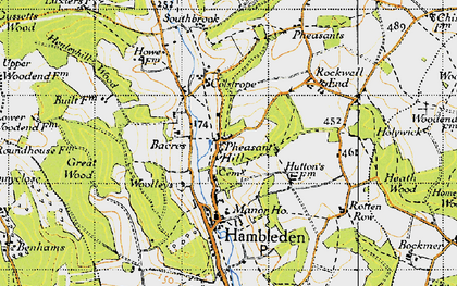 Old map of Bacres in 1947