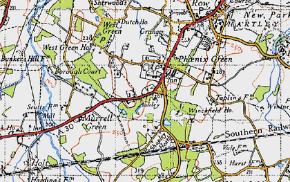 Old map of Phoenix Green in 1940