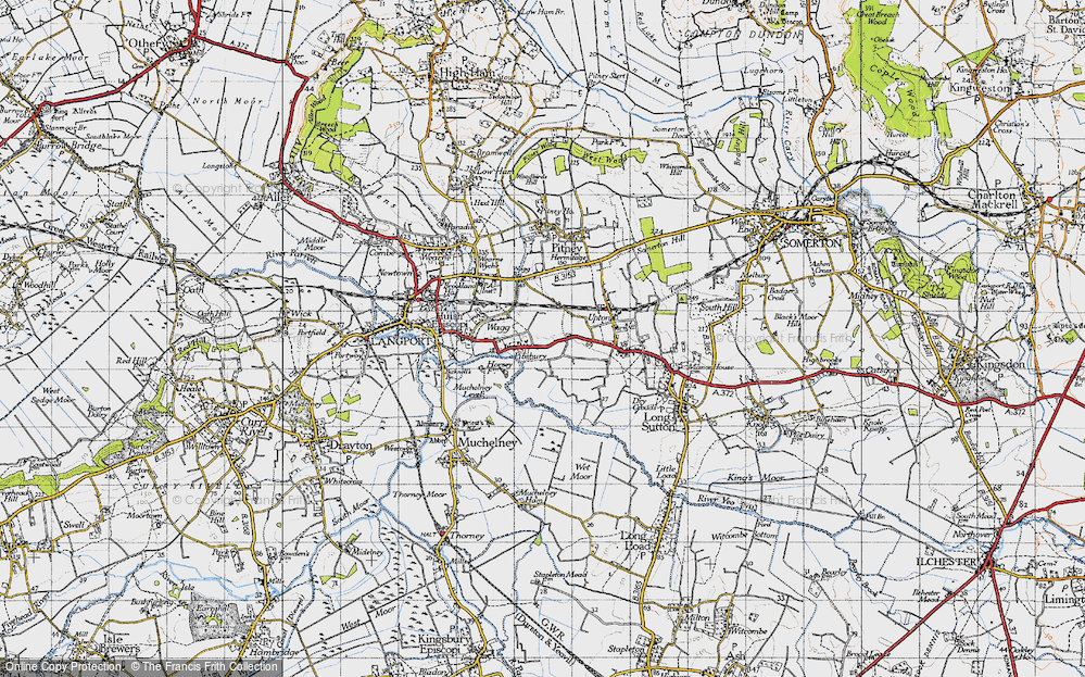 Old Map of Historic Map covering Ablake in 1945