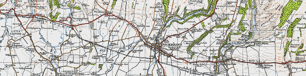 Old map of Westgate Carr in 1947