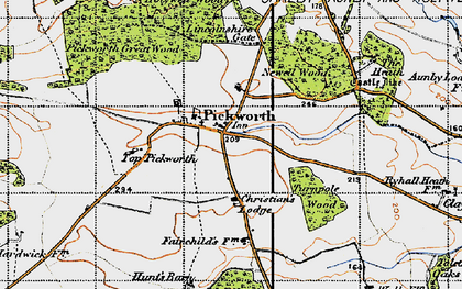 Old map of Lincolnshire Gate in 1946