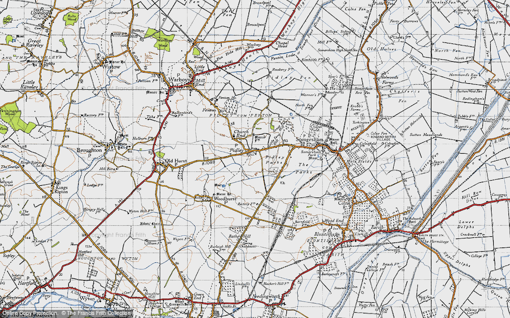 Old Map of Pidley, 1946 in 1946