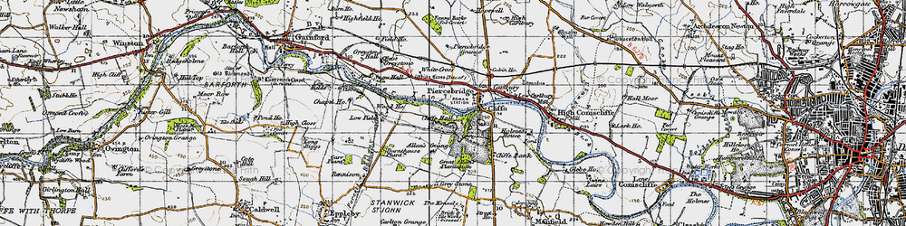 Old map of White Cross in 1947