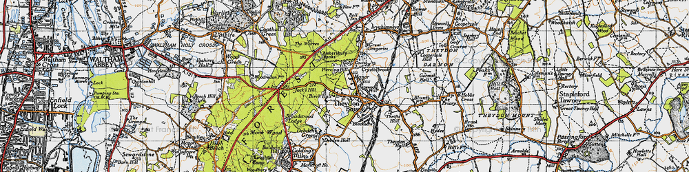 Old map of Ambresbury Banks in 1946