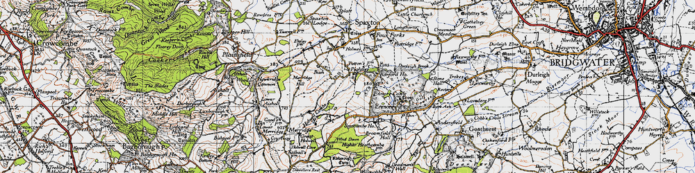 Old map of Wind Down in 1946