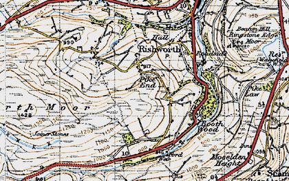 Old map of Baitings Resr in 1947