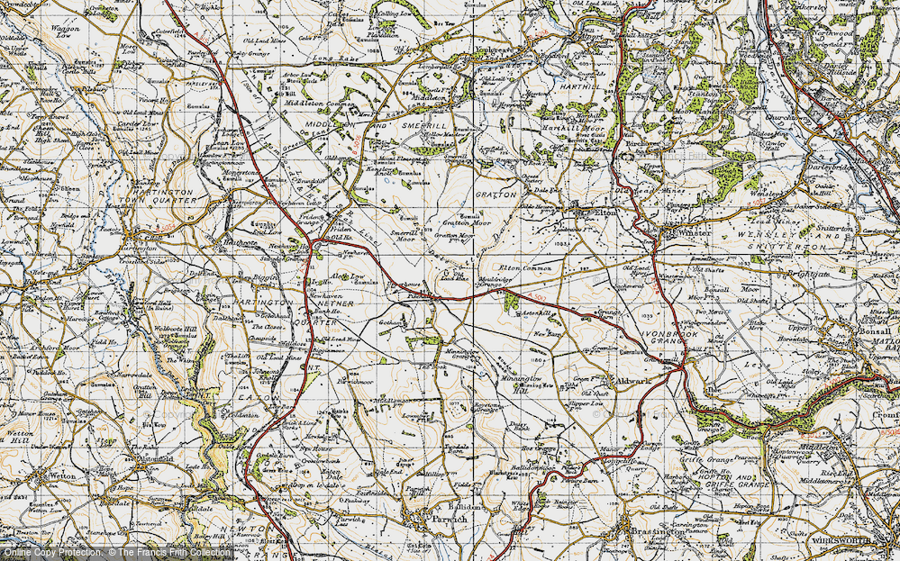 Old Map of Historic Map covering Astonhill in 1947