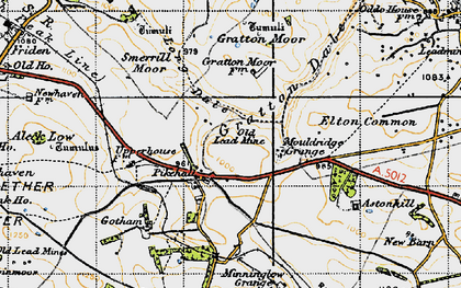Old map of Astonhill in 1947