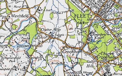 Old map of Pilcott in 1940