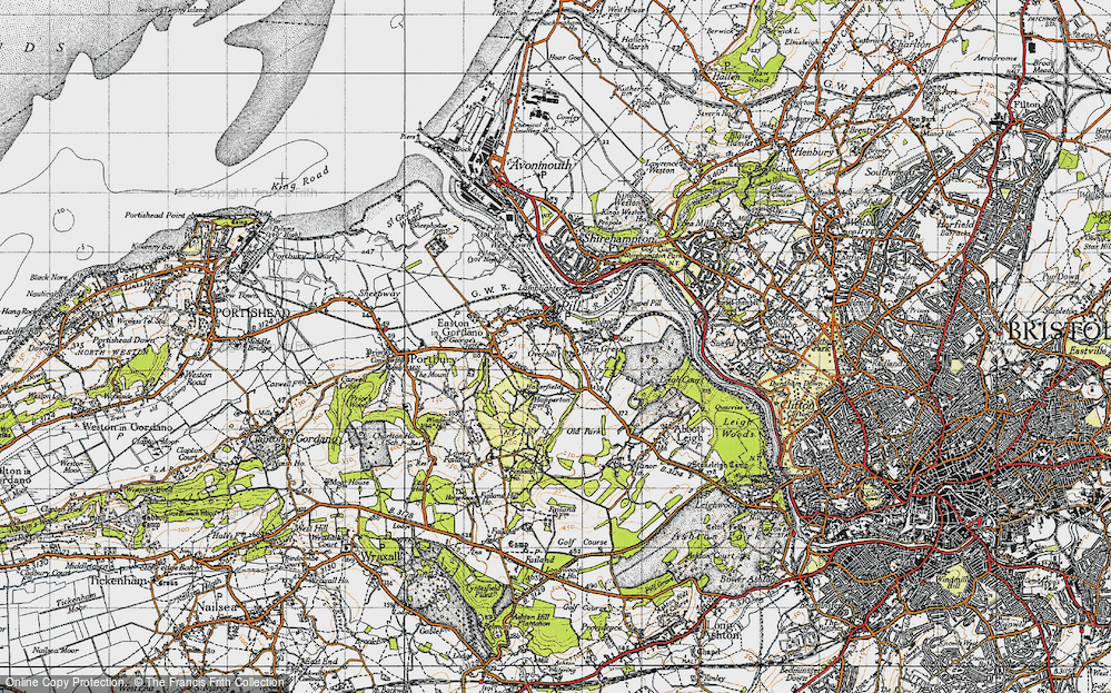 Old Map of Pill, 1946 in 1946