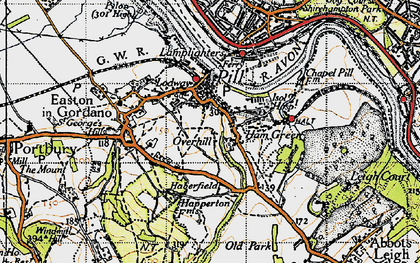 Old map of Pill in 1946