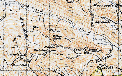 Old map of Lingmell in 1947