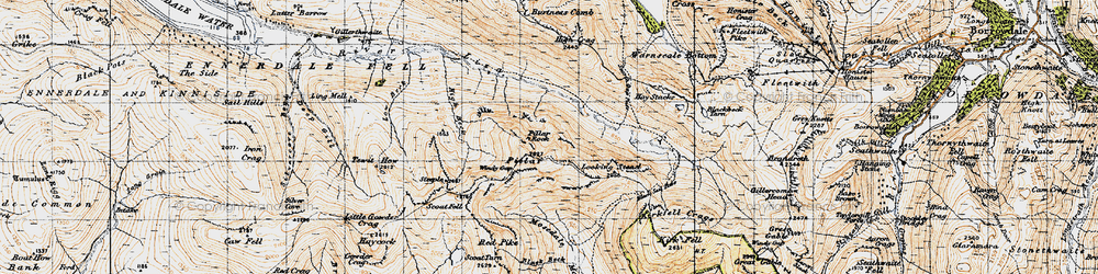 Old map of Wind Gap in 1947