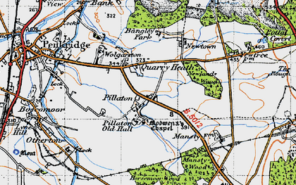 Old map of Bangley Park in 1946