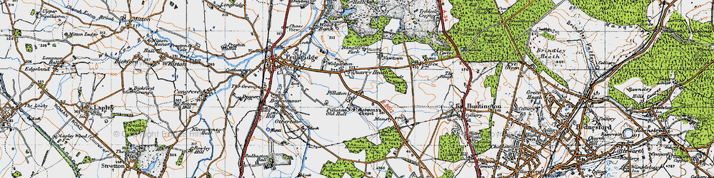 Old map of Wolgarston in 1946
