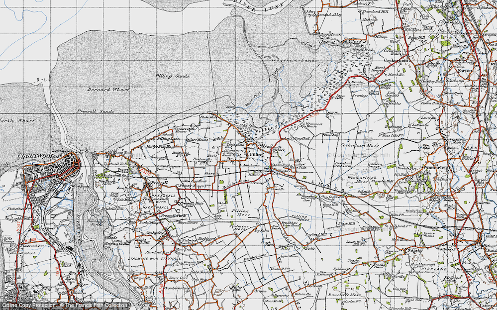 Old Map of Pilling, 1947 in 1947
