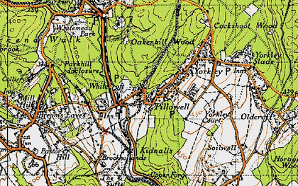 Old map of Pillowell in 1946