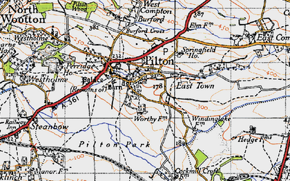 Old map of Pilton in 1946