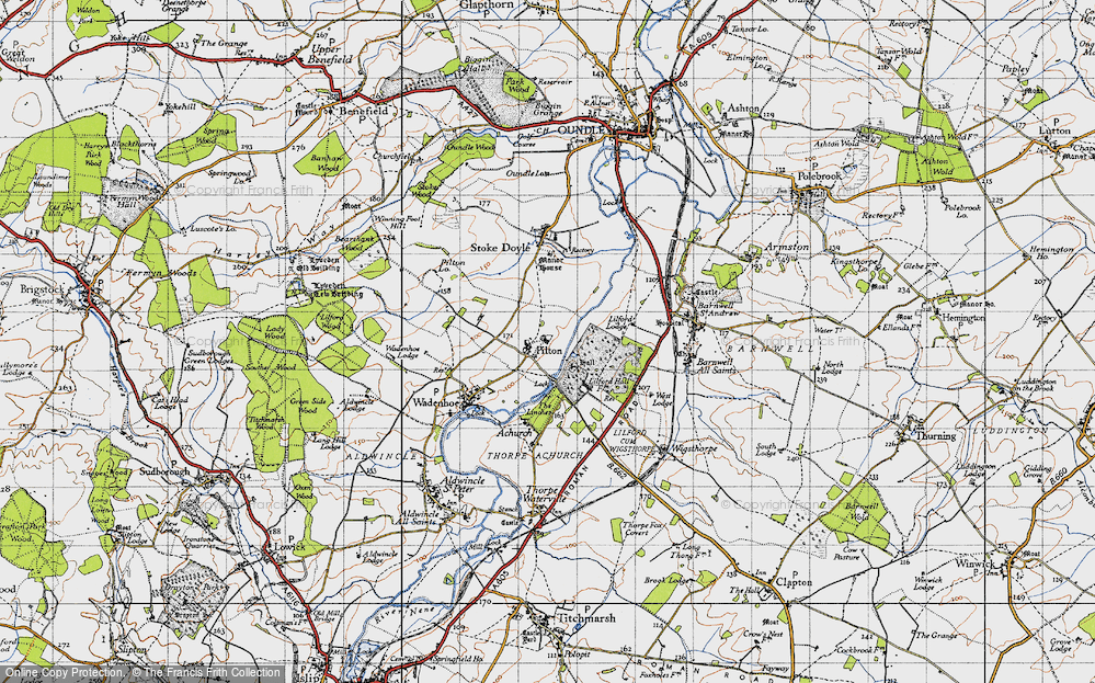 Old Map of Historic Map covering Linches, The in 1946