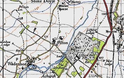 Old map of Linches, The in 1946