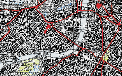 Old map of Pimlico in 1945