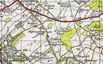 Old map of Pimlico in 1946