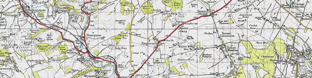 Old map of Letton Park in 1940