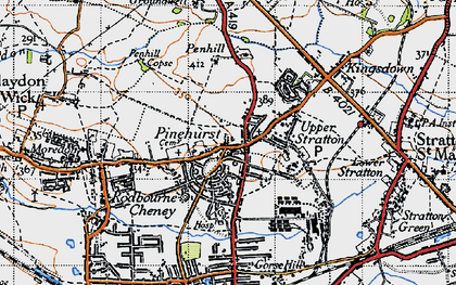 Old map of Pinehurst in 1947
