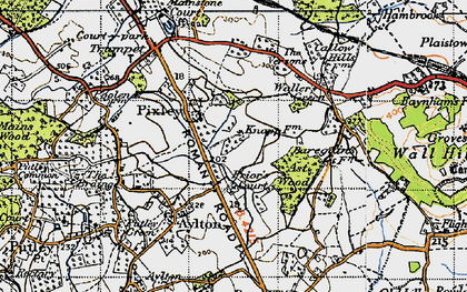 Old map of Ast Wood in 1947