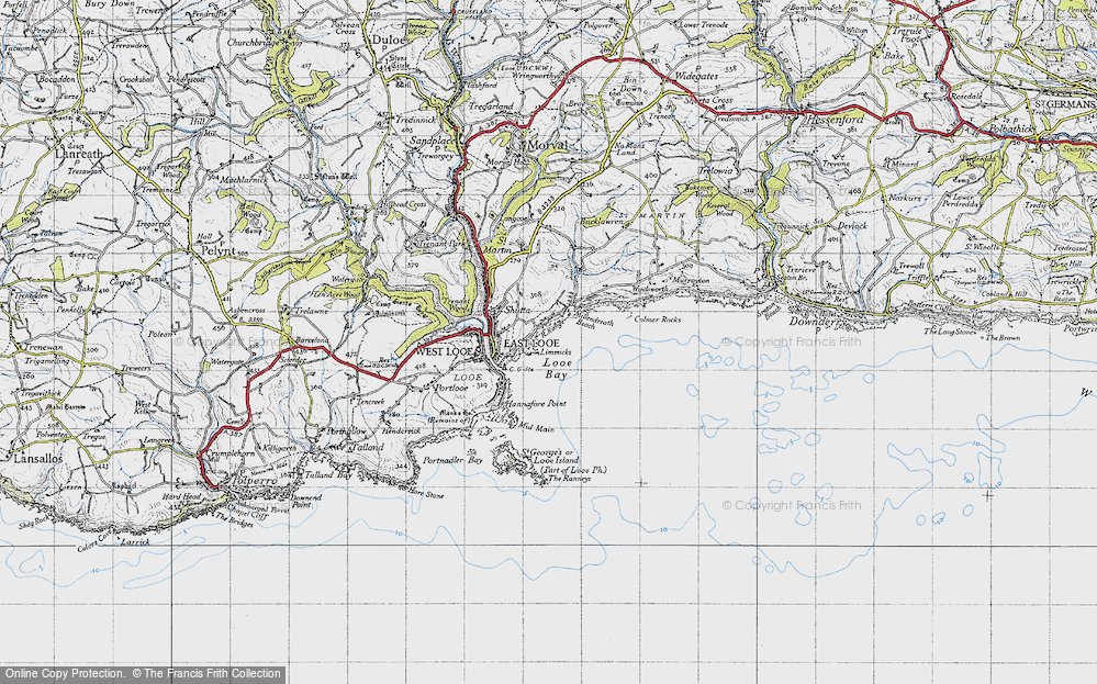Old Map of Historic Map covering Limmicks in 1946